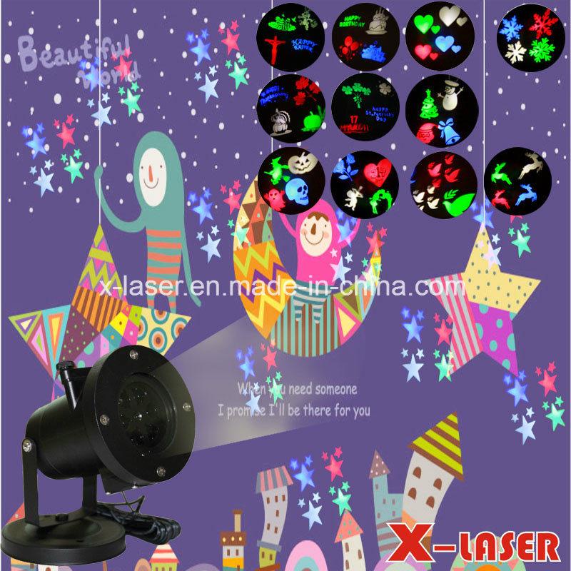 2017 Cheap 12 Slides Holiday Motif LED Projector Light, Christmas Laser Lights Projector Snowflake Lighting