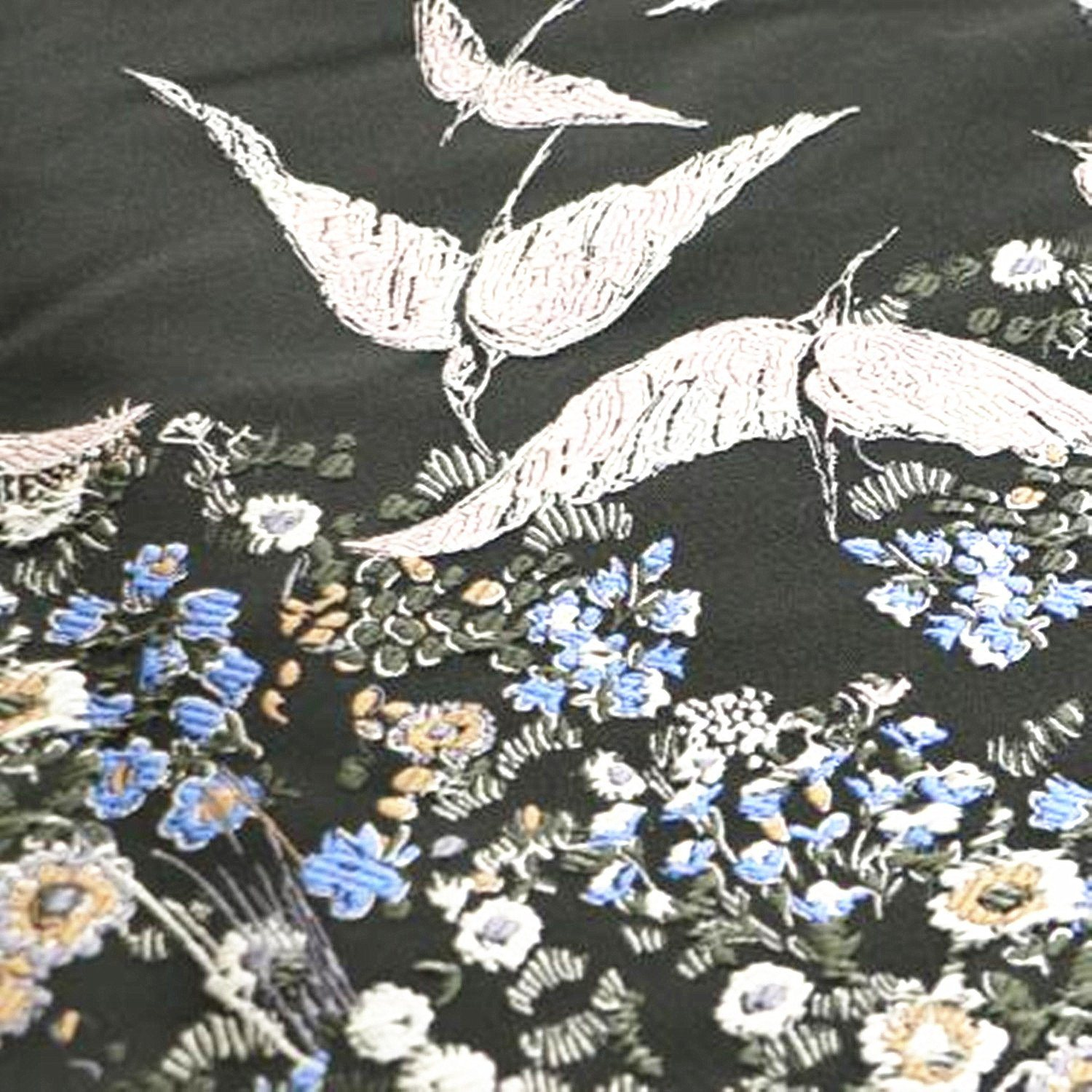 Red-Crowned Crane Jacquard as Like as an Apple to an Oyster Style Fabric