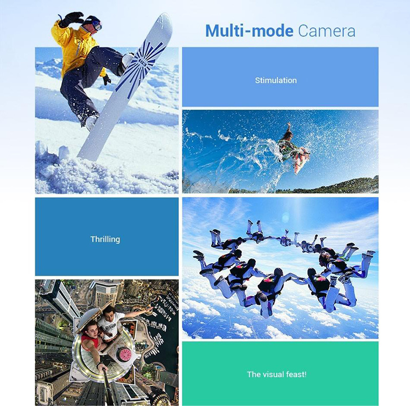 "New WiFi Action Video Camera 12MP 1080P Full HD 2"" Display 170 View Angle 30m Water Resistant Helmet Camcorder Diving Video DVR with Mount Accessorie"