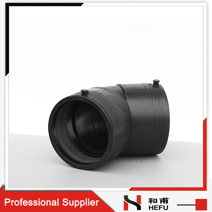 Pipe Bend Large Diameter Electric Melting Black Plumbing 45 Degree Elbow Pipe Fitting
