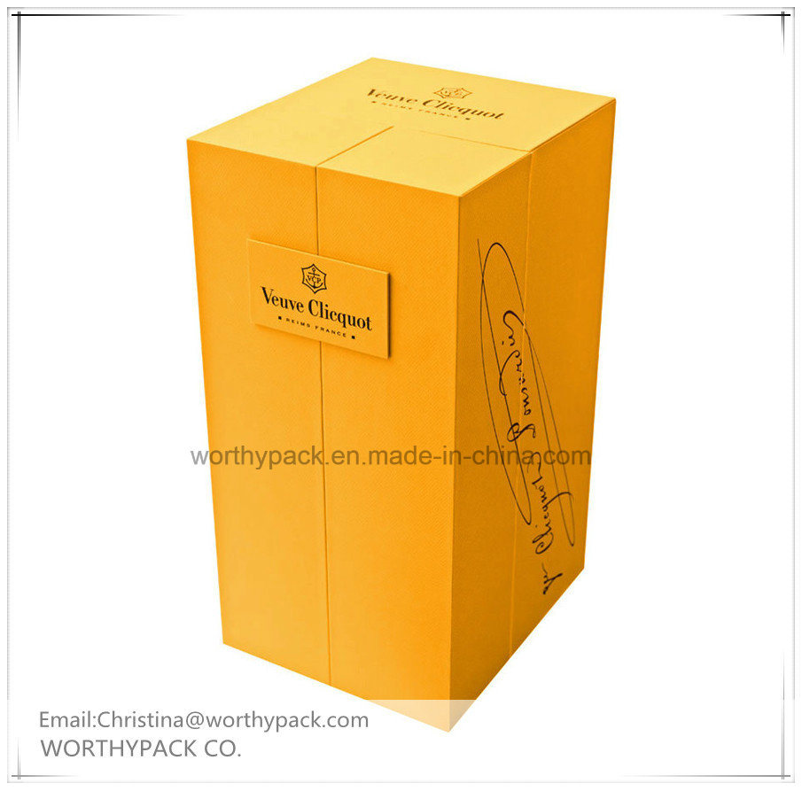 Cardboard/Rigid Art Paper Custom Wine Gift Box for Promotion and Advertising