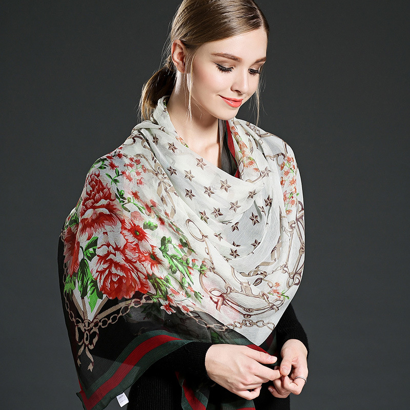Silk Arranges Concerning Georgette Scarf Woman