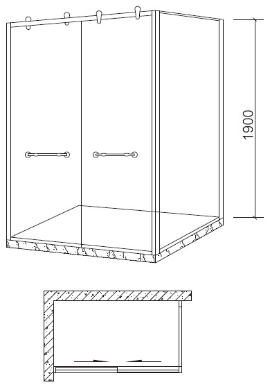 Two Sliding Doors Steel Material Shower Room (BL-F3005)