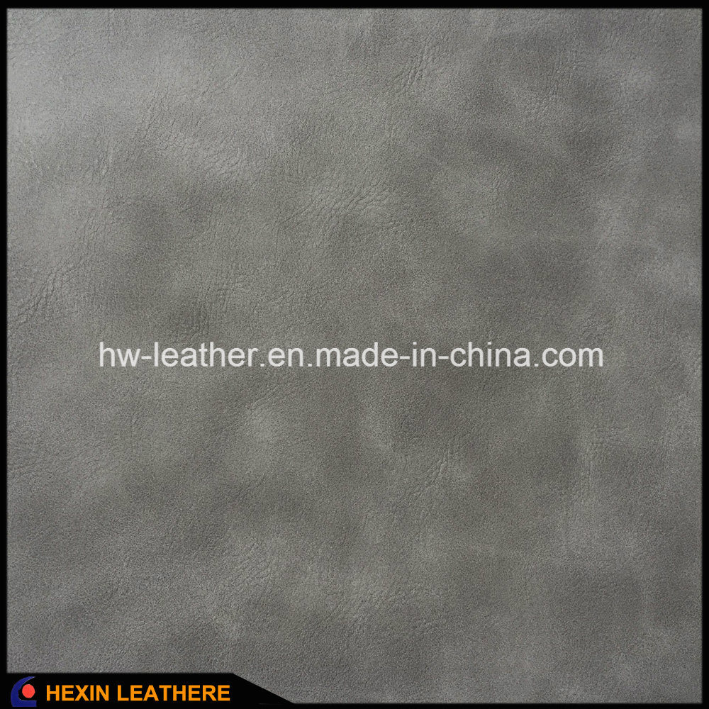 Polished Synthetic PU Leather for Shoes and Bags Hx-S1711