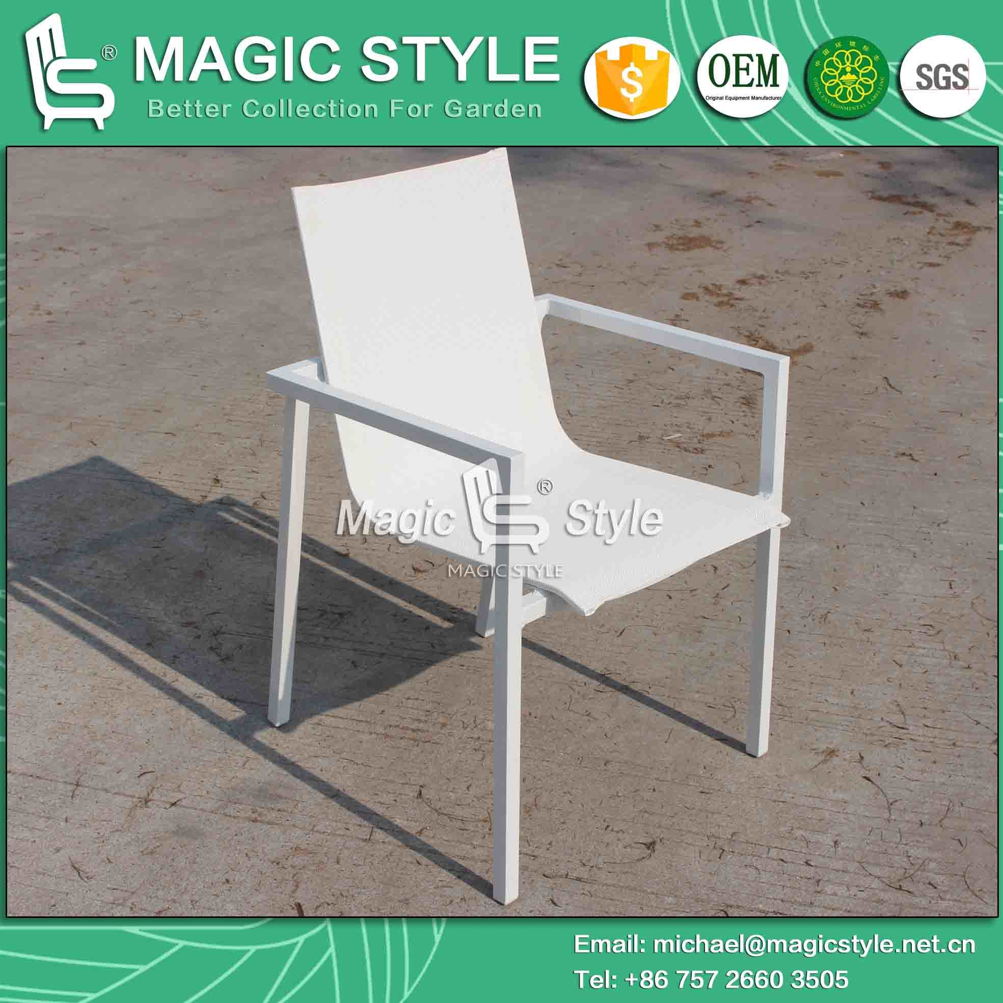 Four Colors Textil Outdoor Chair and Table for Hotel