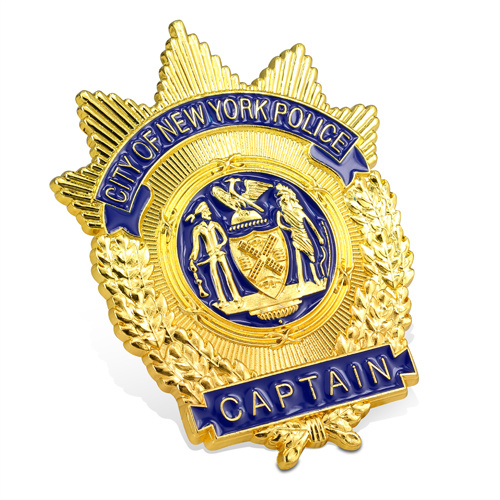 Customized Souvenir Engraved High Quality Hard Enamel Police Badge