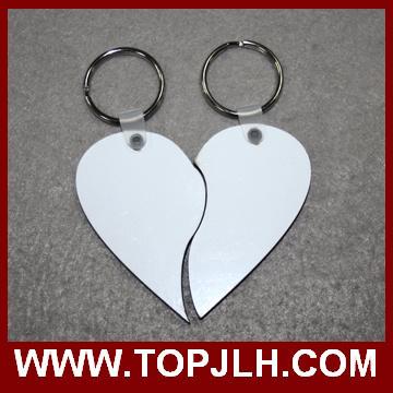 Briliant Photo Sublimation Couple Keyring MDF Wood Key Ring From China