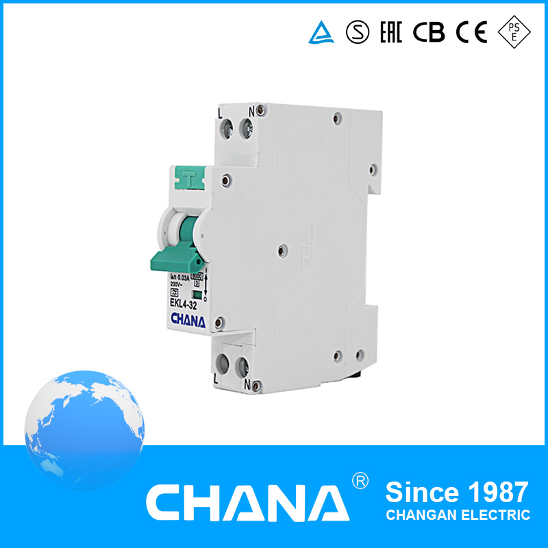 Electronic 1p+N 32A RCCB with Overcurrent Protection RCBO Circuit Breaker