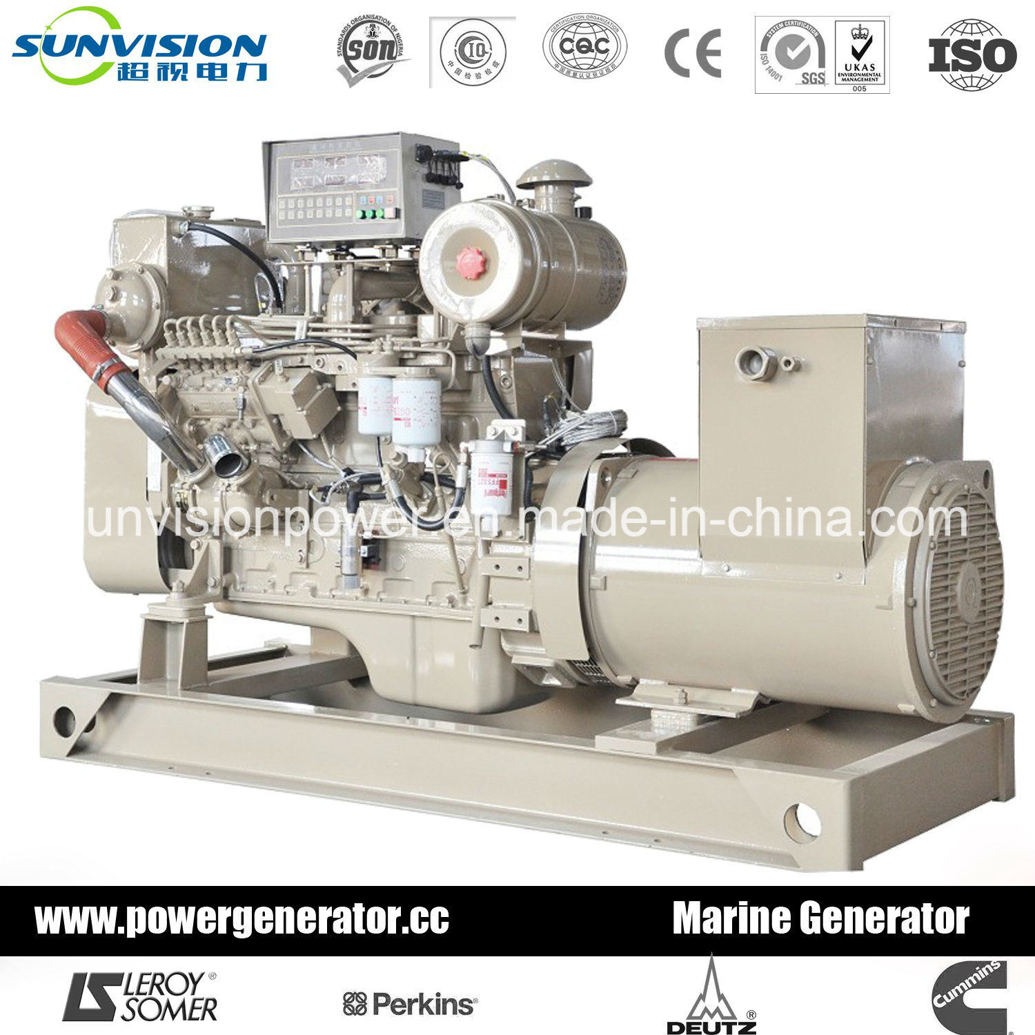 China Prime 350kVA Diesel Generator Set Cummins Marine Engine