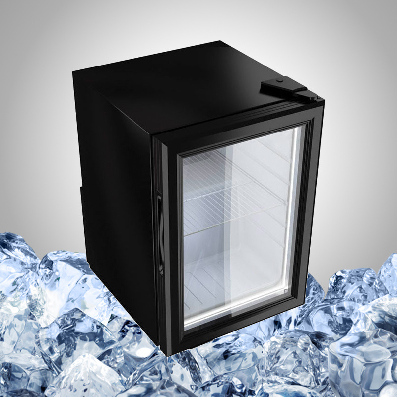 Small Drink Fridge with Glass Door Display