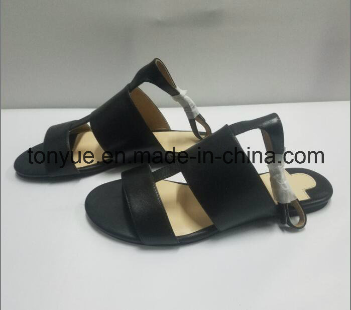 Lady Kid Leather Flat Open Toe Women Sandals
