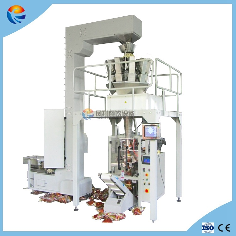 Full Automatic Vegetable Potato Chips French Fries Food Salad Weighing Packing Machine