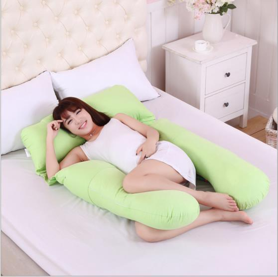 Polyester Pregnant Side Sleepers U Shaped Maternity Pillow