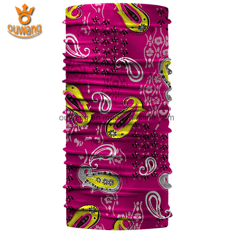 Outdoor Sports Multifunctional Custom Printed Microfiber Polyester Scarf