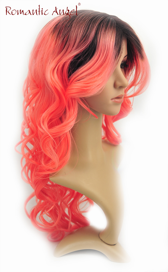 Fashion Best Quality Long Hair Tn Dye Color Heat Resistant Fibre Wig