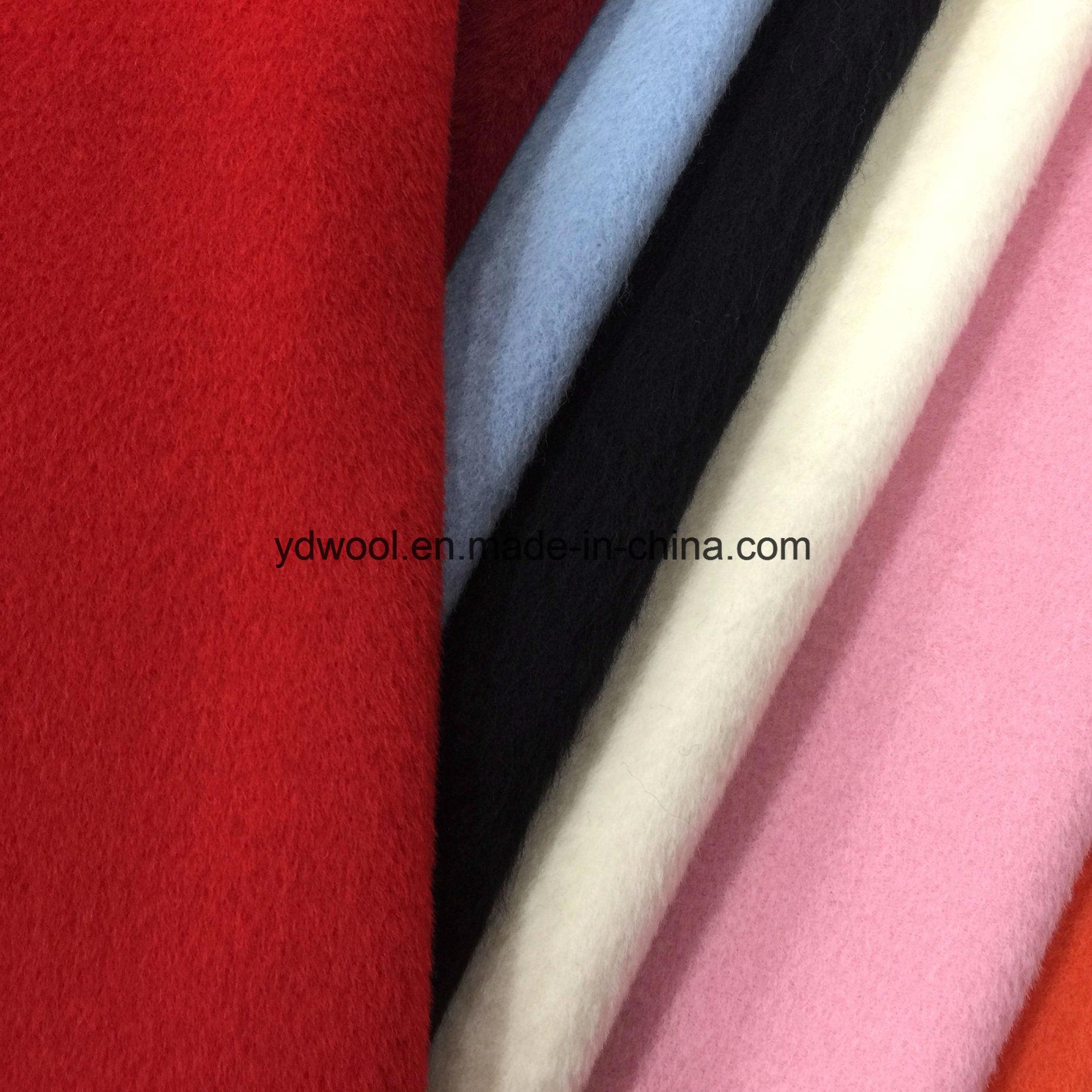 Alpaca Style Woolen Fleece Wool Fabric Greige