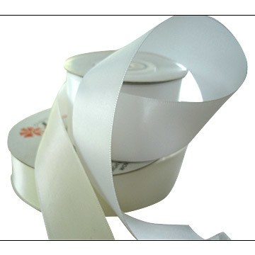 Narrow Woven Edge Double Side Polyester Satin Label Ribbon