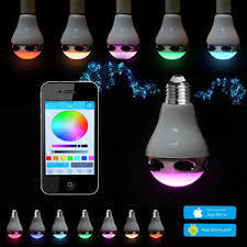 Smart LED Bulb with Bluetooth Speakers, Supports Phone & APP Control