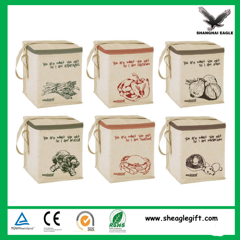 Custom 6 Pack Non Woven Insulated Thermal Cooler Bag Wholesale