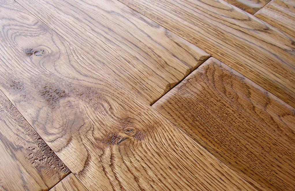 China oak solid wood hand scraped flooring saddle color for Hand scraped wood floors