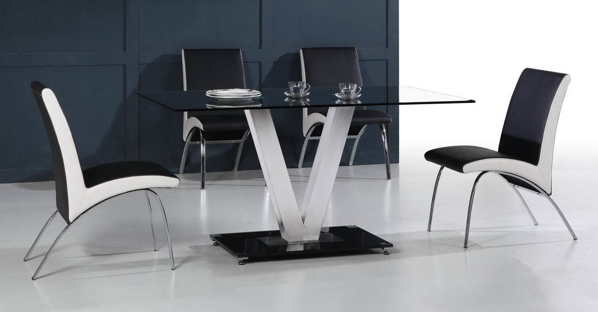 china stainless steel and glass dining table sa 5217