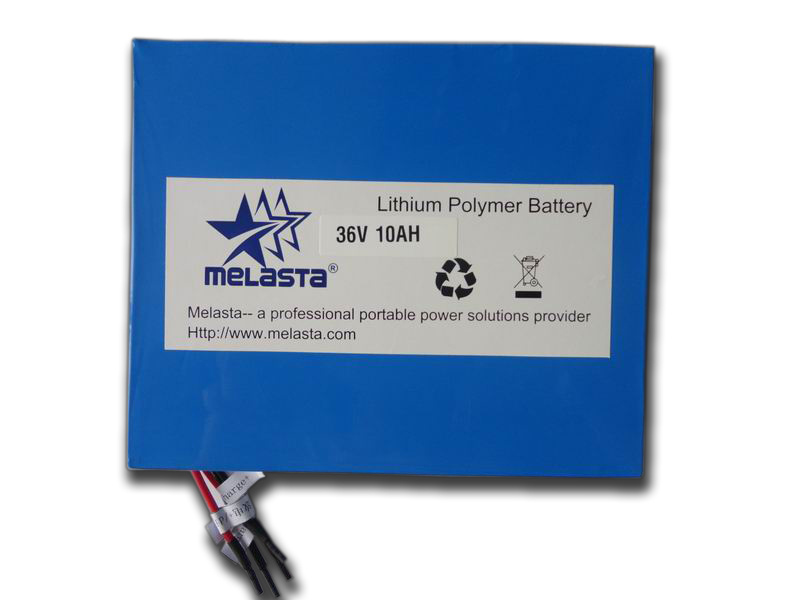 36V 10ah Li-Polymer Battery Pack in E-Bike Application
