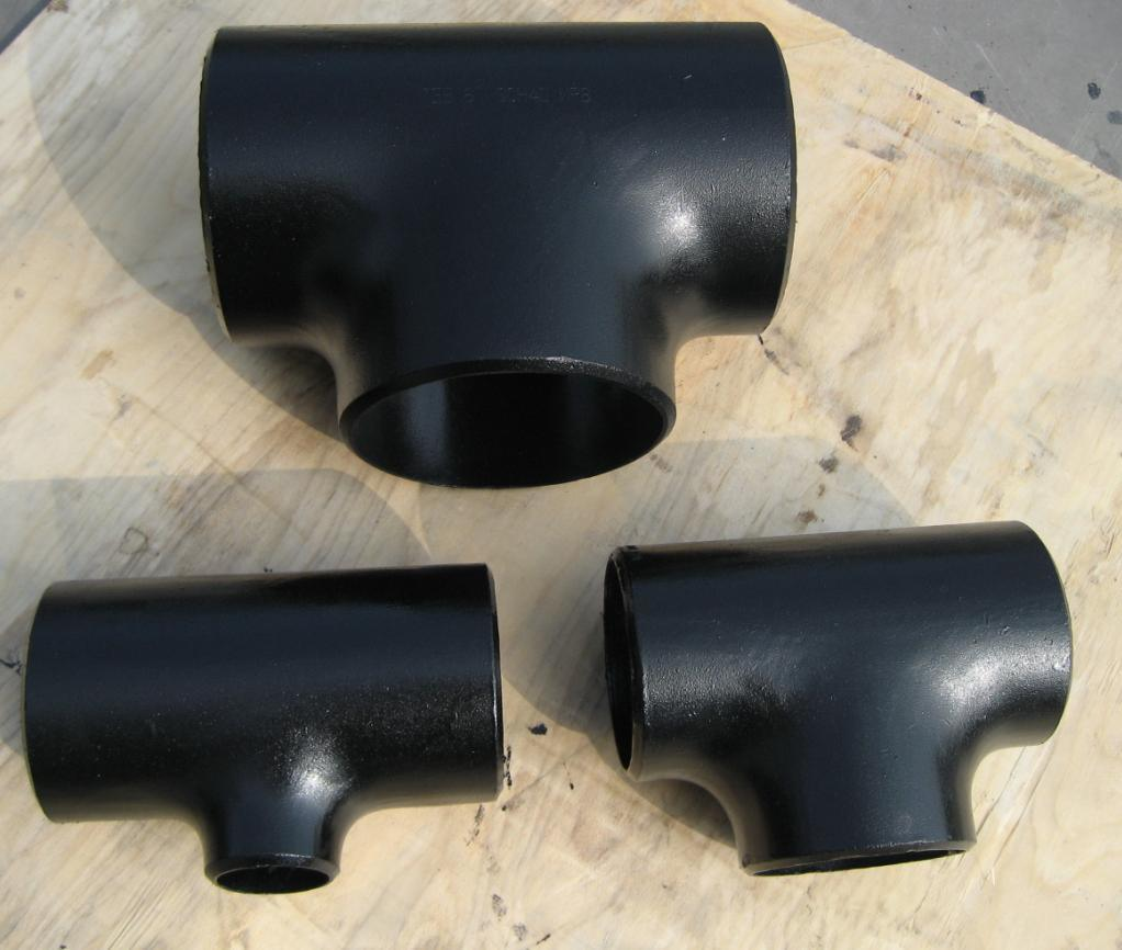 China pipe fittings reducer tee steel fitting