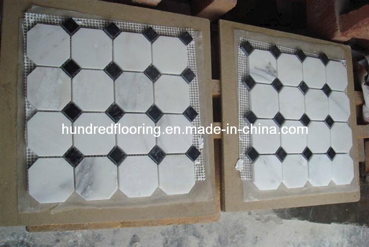 White Marble Mosaic Tile (HSM107)