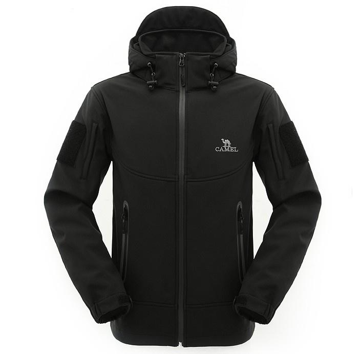 Custom Men′s Waterproof Hooded Softhell Jacket