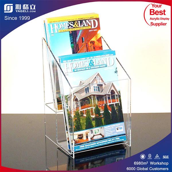 Transparent Plexiglass Acrylic Pocket Brochure Display Holder