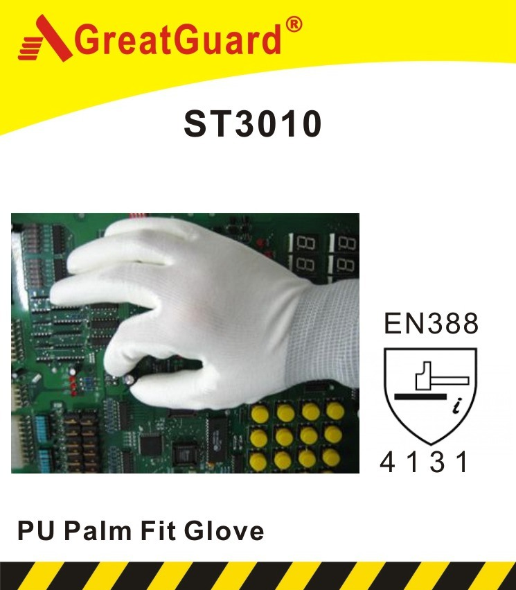 Polyurethane (PU) Palm Fit Glove (ST3010G)