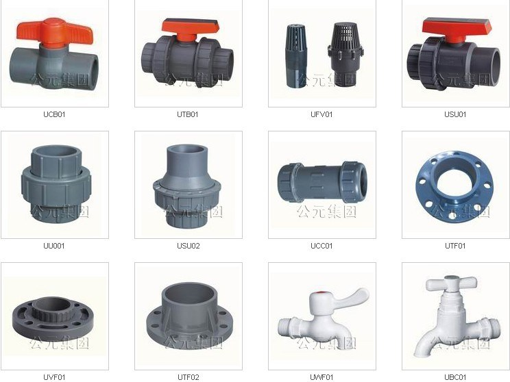 China pvc valves and fittings