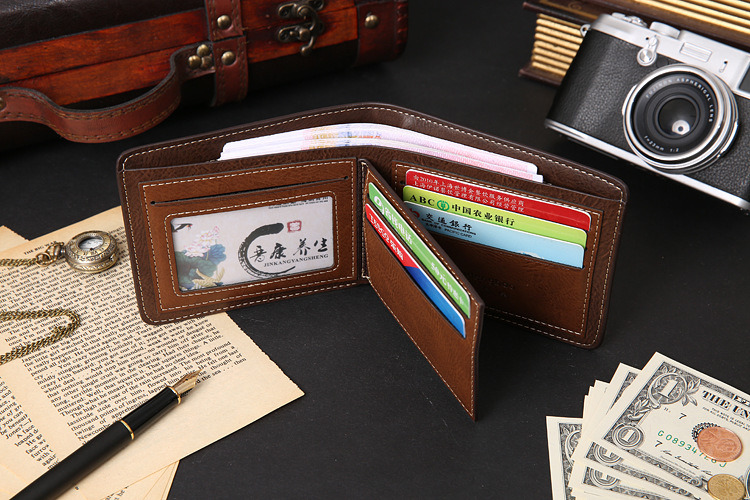 2017 New Fashion Lady Wallet Three Leaves Three Fold Short Wallet Multi-Functional Wallet Card Package