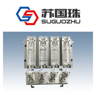 4 Cavities 1.5L Water Bottle Blowing Mould for Linear Machine