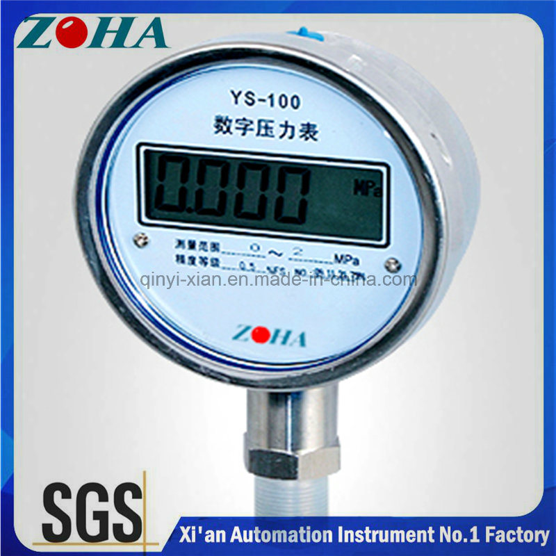 Ys-100 5 Digits LCD Stainless Steel Digital Pressure Gauge