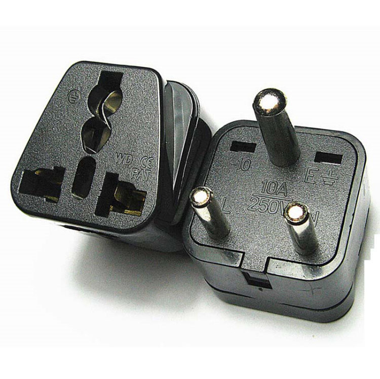 Nepal India Sri Lanka Universal Travel Power Plug Adapter Au/Us/EU to South Africa Plug Adapter Converter Connector