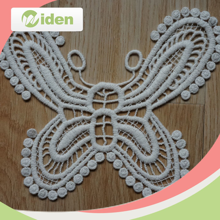 Hot Selling Water Soluble Lace Fabric Floral Pattern Embroidery Patch