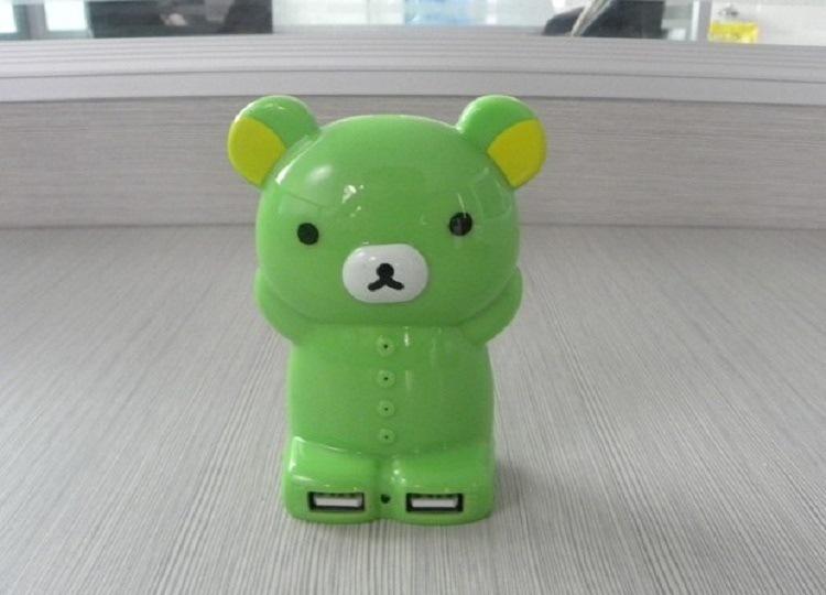 Cute Cartoon Bear Dual USB Mobile Power Bank Charger (PB-YD21)