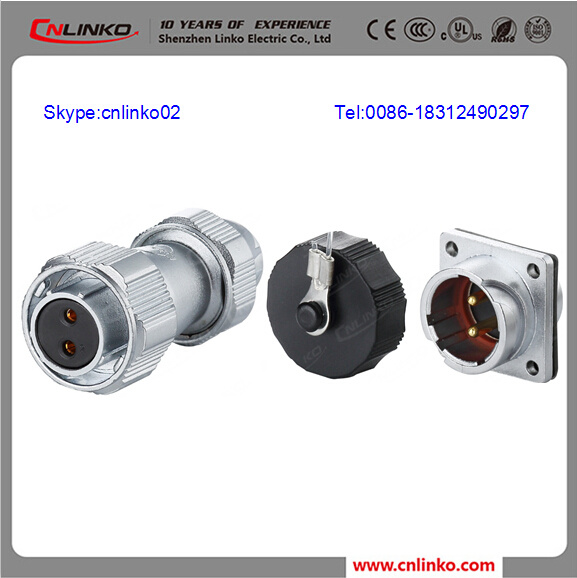 IP67 DC Bayonet Plug Types Of Power Cable Connectors For LED