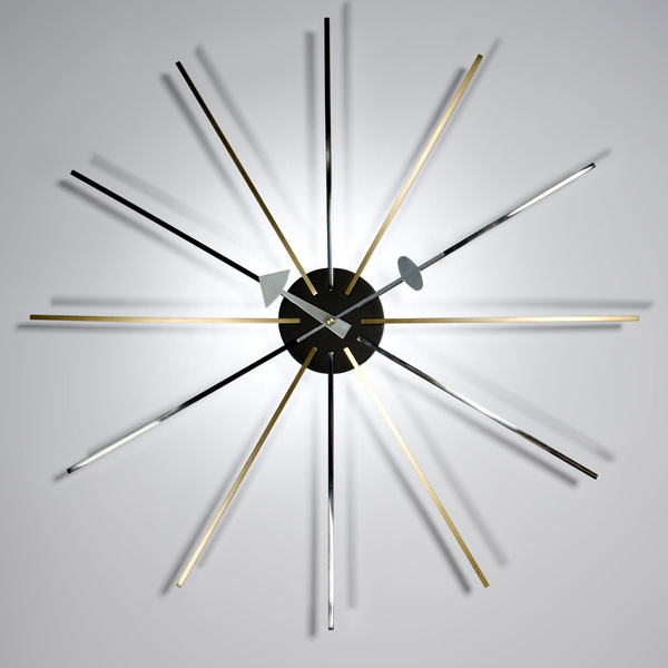 Brass Stainless Steel Arms Star Clock