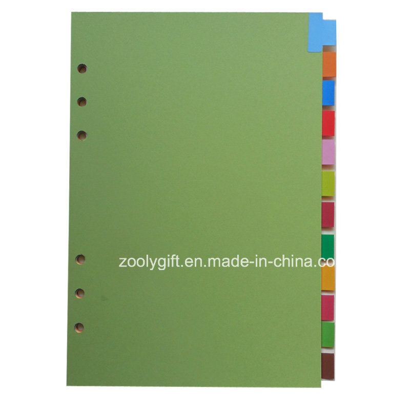 12 Tab A4 A5 Index Dividers / 12 Pages PP Index Divider, Office Stationery 6 Hole Loose-Leaf File