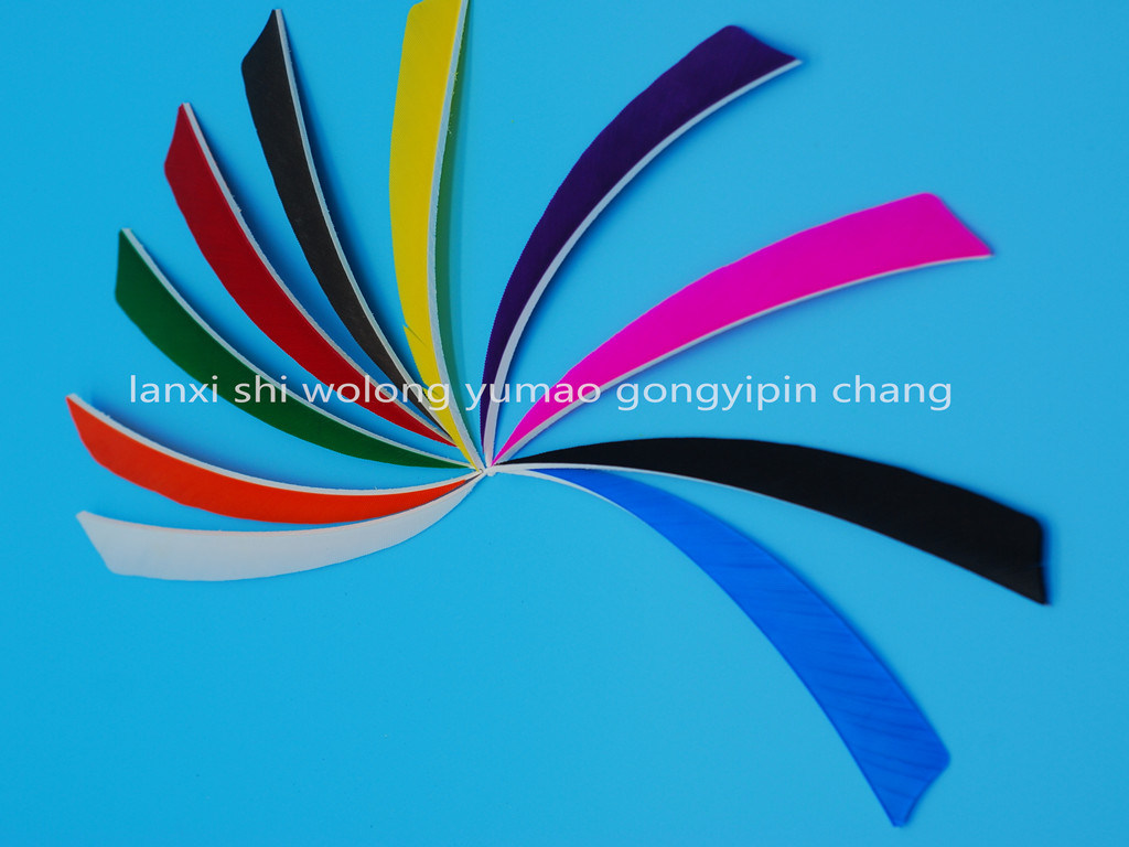 5 Inch Left Wing Shield Stype Feather for Arrowshooting