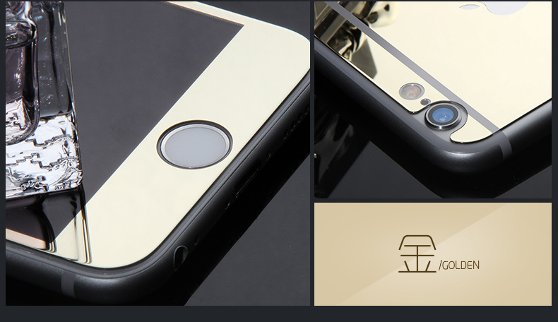 2.5D Color Mirror Tempered Glass Screen Protector for iPhone 6/6s