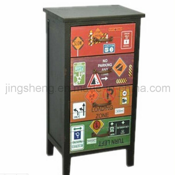 European Hot Sell Antique Wooden Cabinet for Home Decor