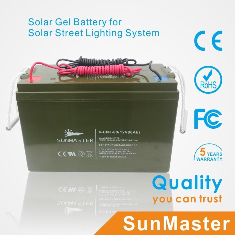 5 Years Warranty Solar LED Street Light 3mm Thickness Pole