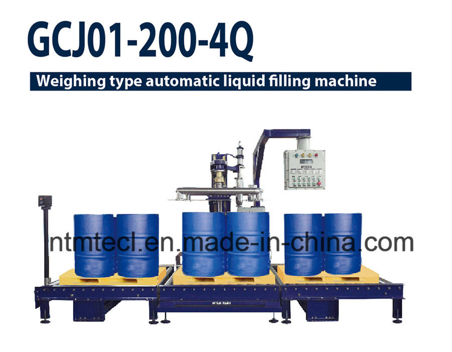 Automatic 200kg Drum Filling Machine for Chemcial, Paint, Coaing, Glue, Adhesive