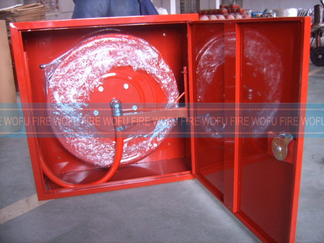 Single Door Steel Cabinet with Hose Reel