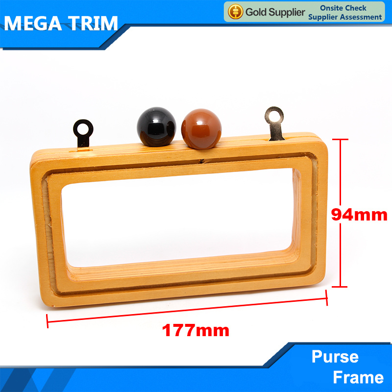 Distinctive Wooden Purse Frame Special Design Purse Frame Popular Using in Handbag and Bag
