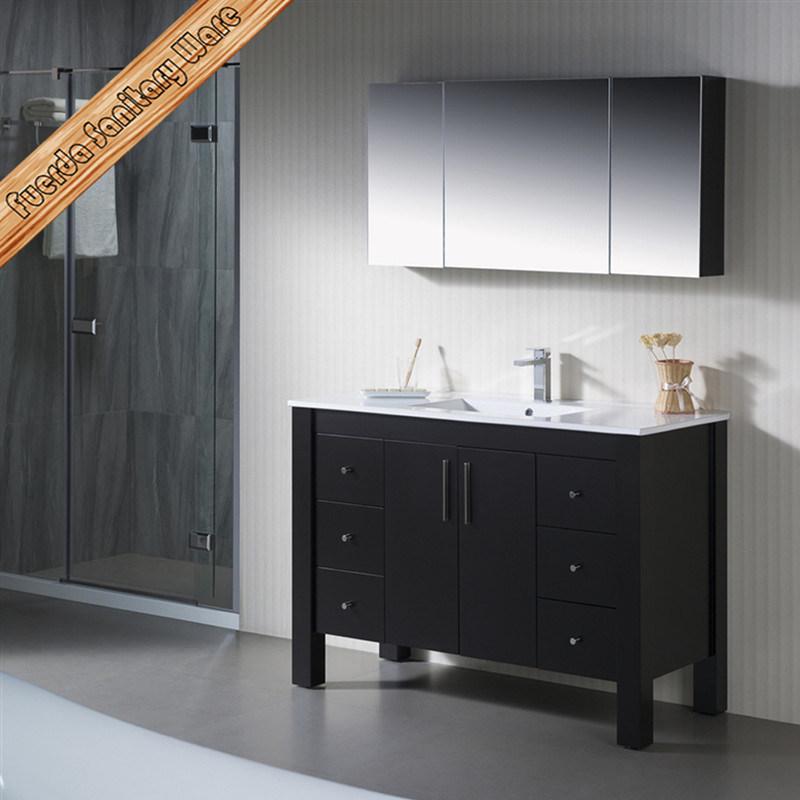 Sanitaryware New Solid Wood Vanity Oak Bathroom Vanity Cabinet