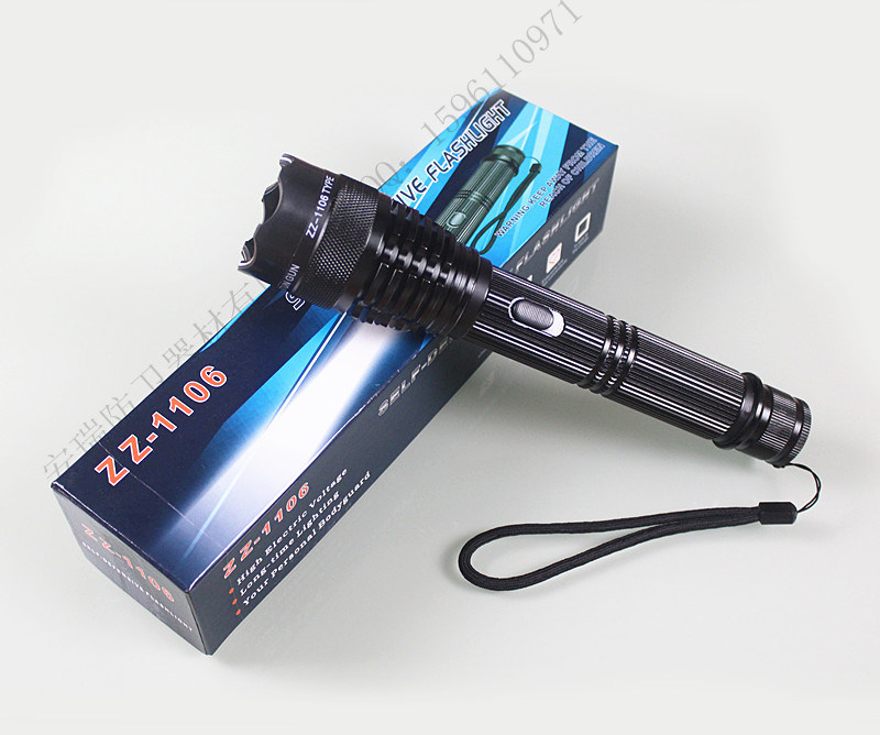 Df1106 Riot Tactical Flashlight Stun Gun